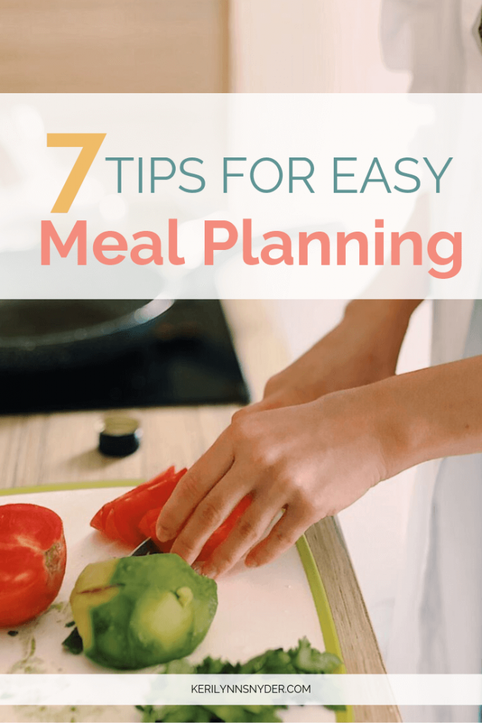 The easy meal planning tips to help busy moms plus free meal planning printables!