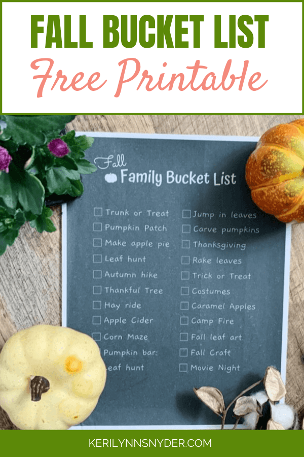 Create a fall bucket list for your family