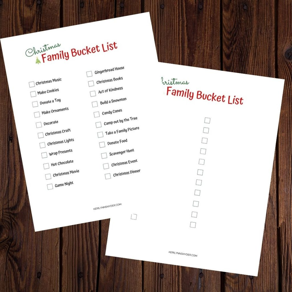 Use the Christmas Bucket List Printable to help your family carve out time for what matters during the holidays!