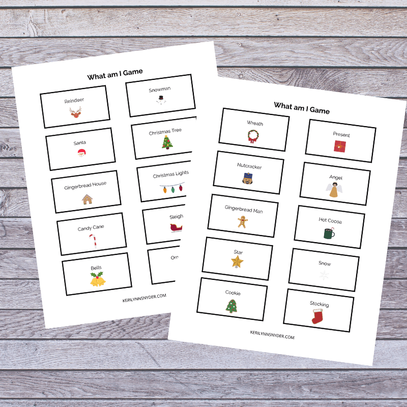 What am I printable game