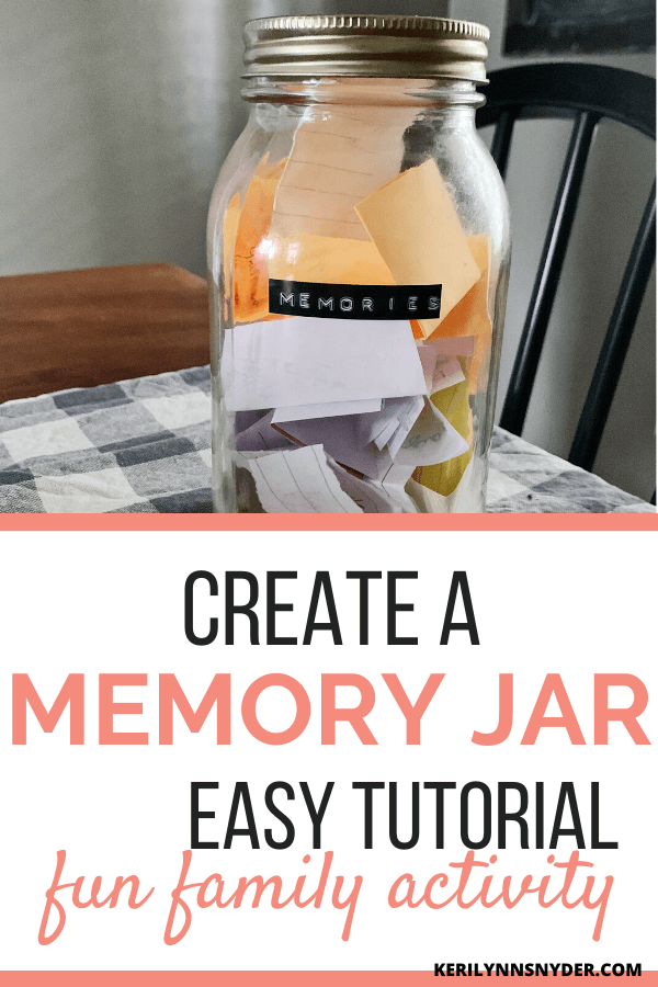 How to create a memory jar