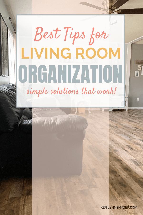 how to declutter and organize the living room