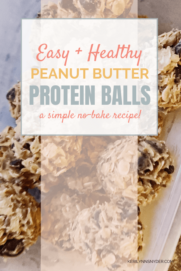 Easy Peanut Butter Protein Balls