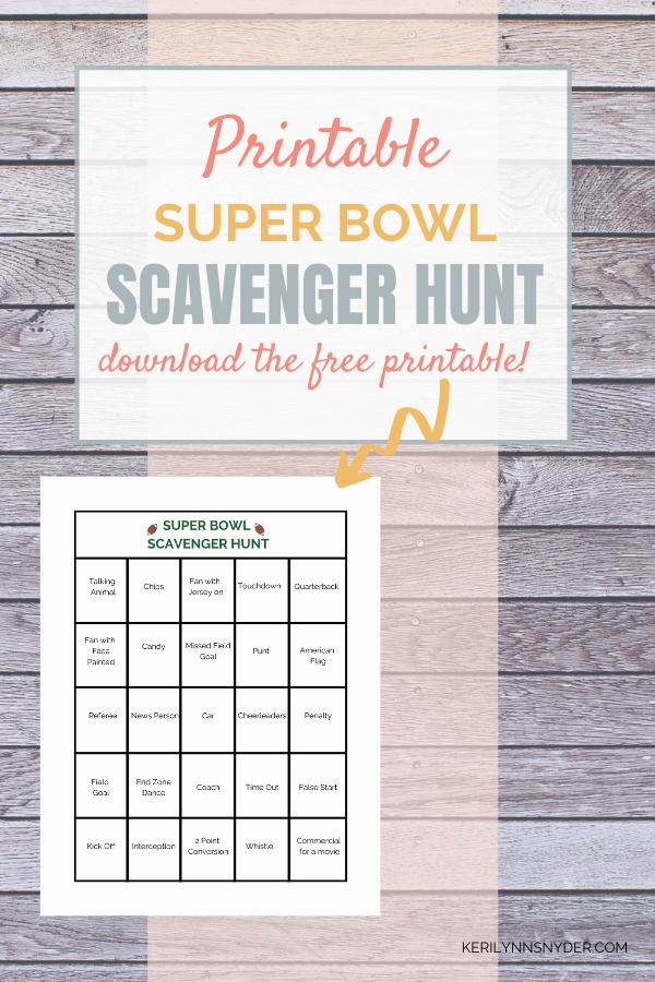 Super Bowl Scavenger Hunt