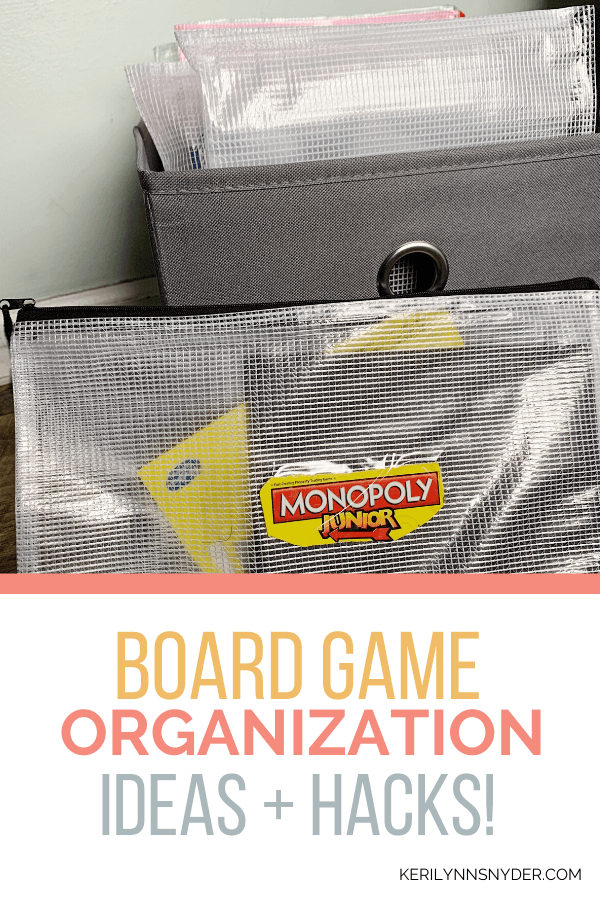 Great ways to organize board games