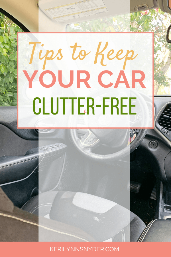 Tips to keep you car clutter-free!