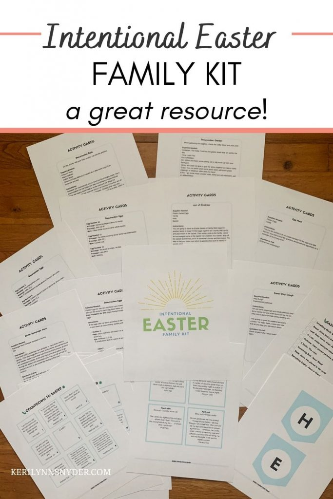 Use the Intentional Easter Family Kit to help your family celebrate lent and Easter.