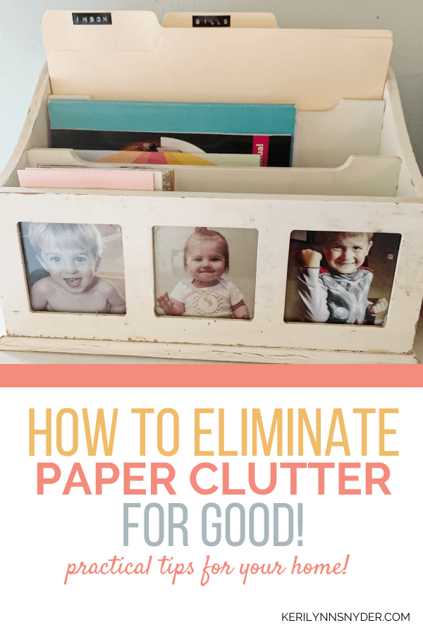 How to get rid of paper clutter.