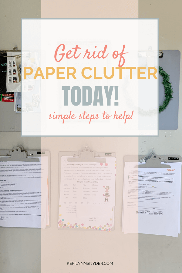 Practical steps to eliminate paper clutter. How to organize papers.