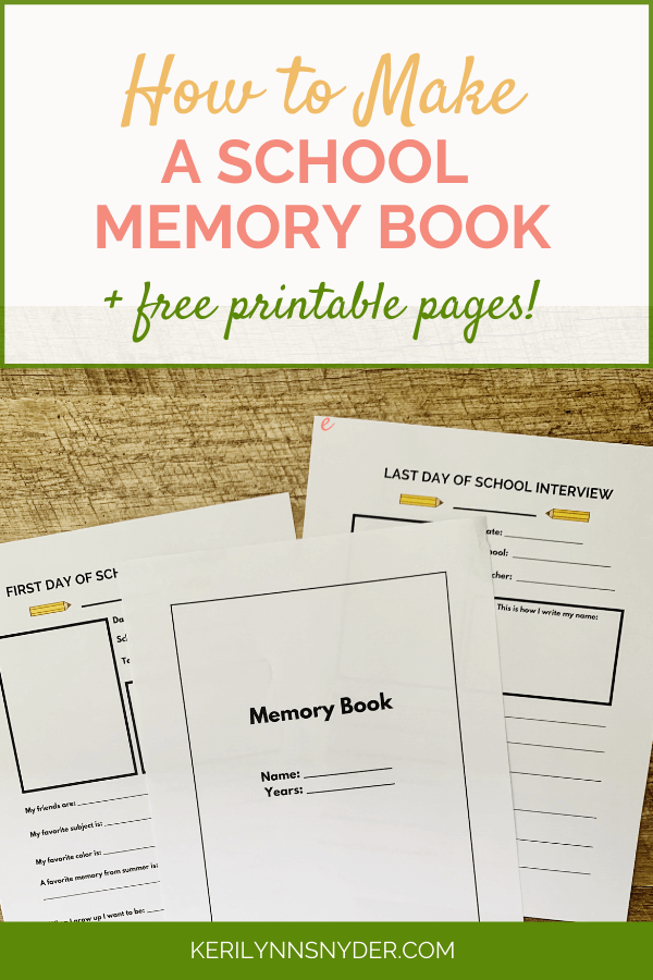 Memory Book for School Papers