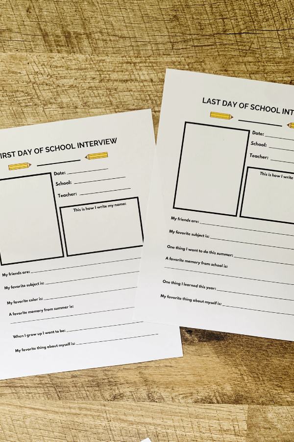 Create a memory book to store school papers.