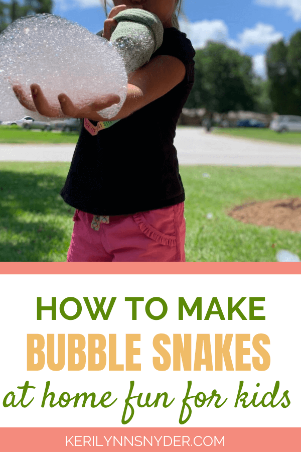 How to make bubble snakes.