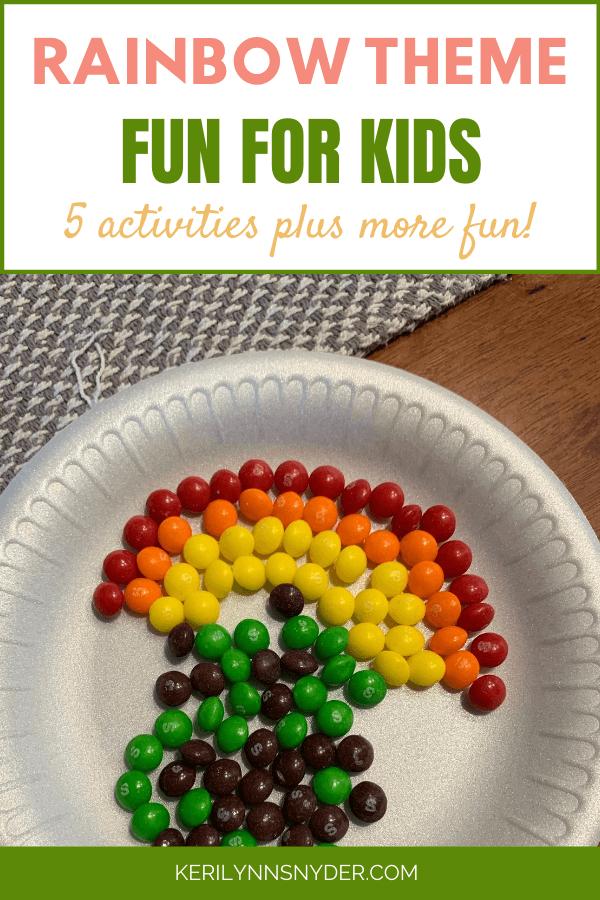 Rainbow Theme Activities for Kids