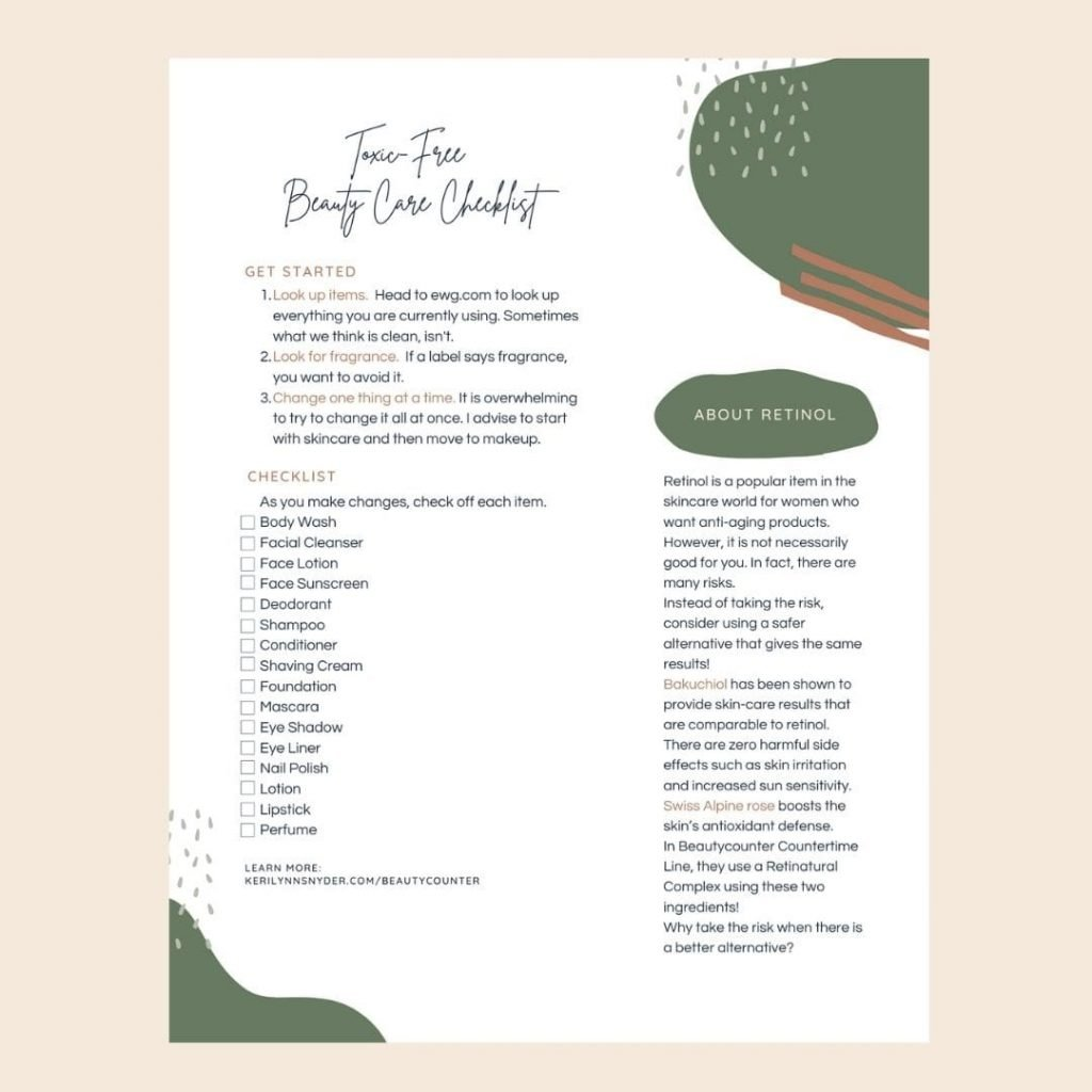 Toxic Free Checklist for Beauty