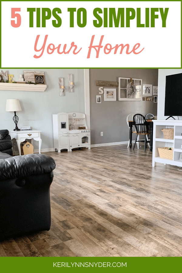 Learn how to simplify your home with these 5 stpes