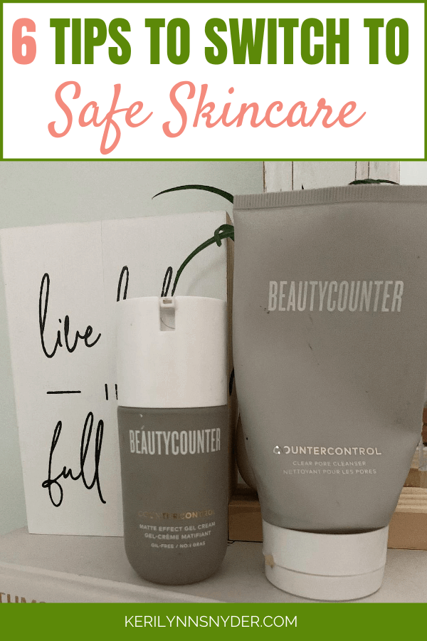 Tips for switching to non-toxic skincare. Learn how to to switch without the stress.
