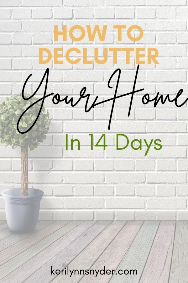 How to declutter your home in 14 days with this mini challenge.