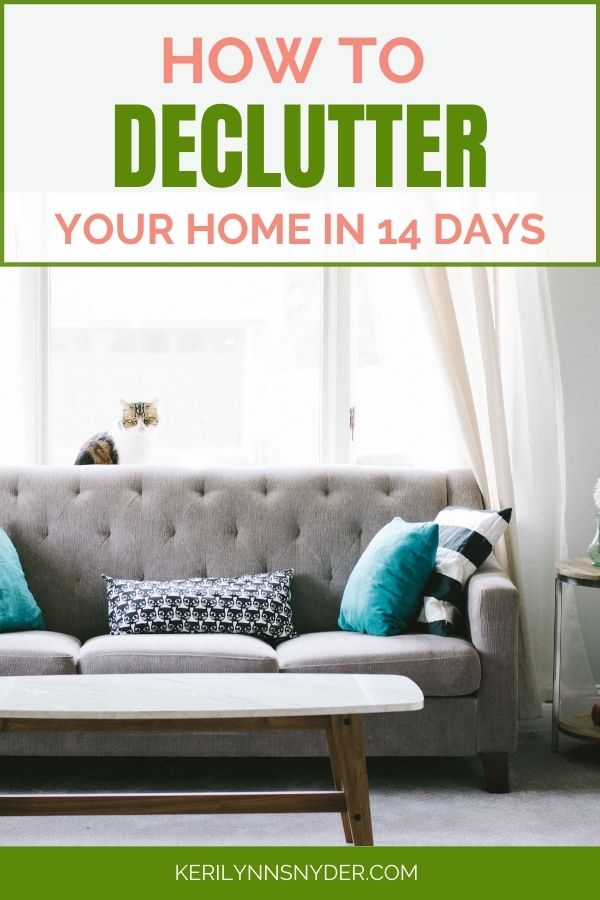 Get your home decluttered in 14 days and ready for the holiday season.