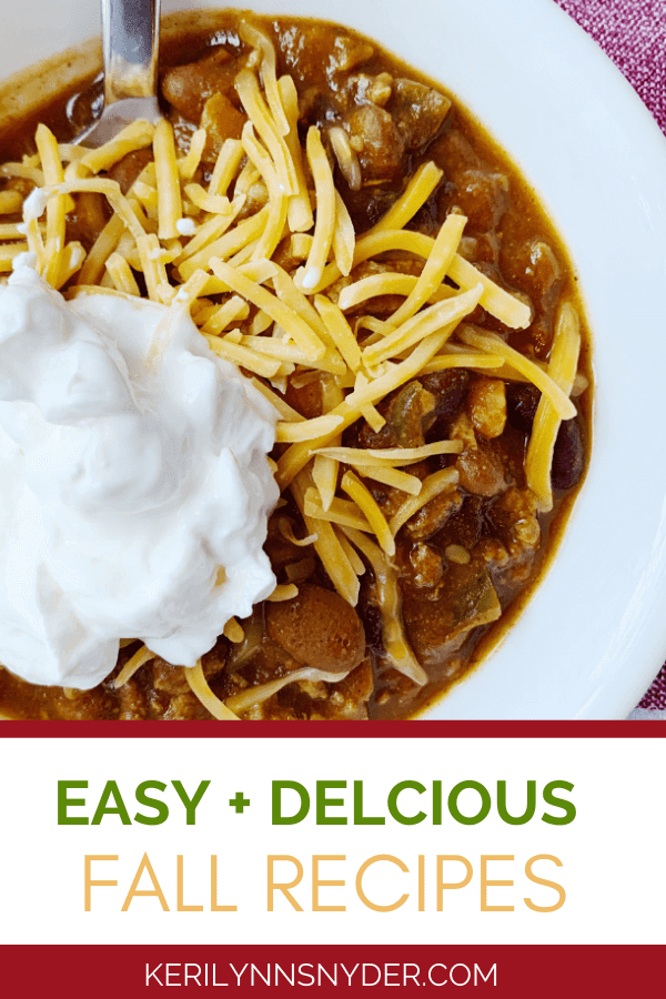 Seven fall recipes that your family will love!