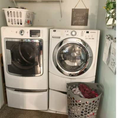 Tips for organizing a small laundry room.