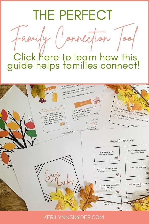 Looking for ways to connect as a family and teach your kids about gratitude? Get the November Family Connection Guide today! Learn more here.