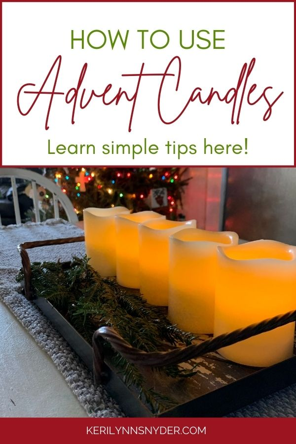 Learn how to use advent candles at home with your family!
