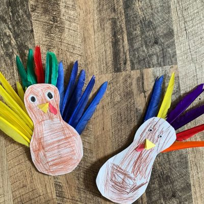 Create a Build a Turkey play invitation for your kids to enjoy! Learn how here.