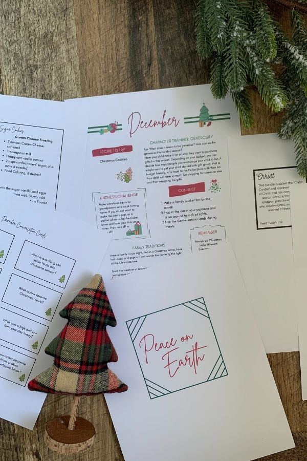 Use the December Family Connection Guide for Christmas family traditions!