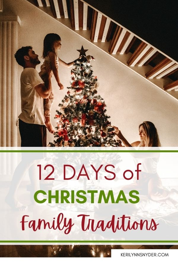 Have fun with Christmas family traditions at home! Check out these great ideas.