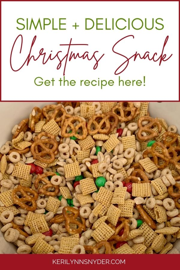 The easiest Christmas snack mix.