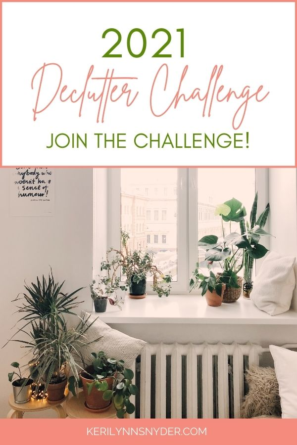 Declutter and organize your home in 2021 with the Clear the Clutter Challenge!