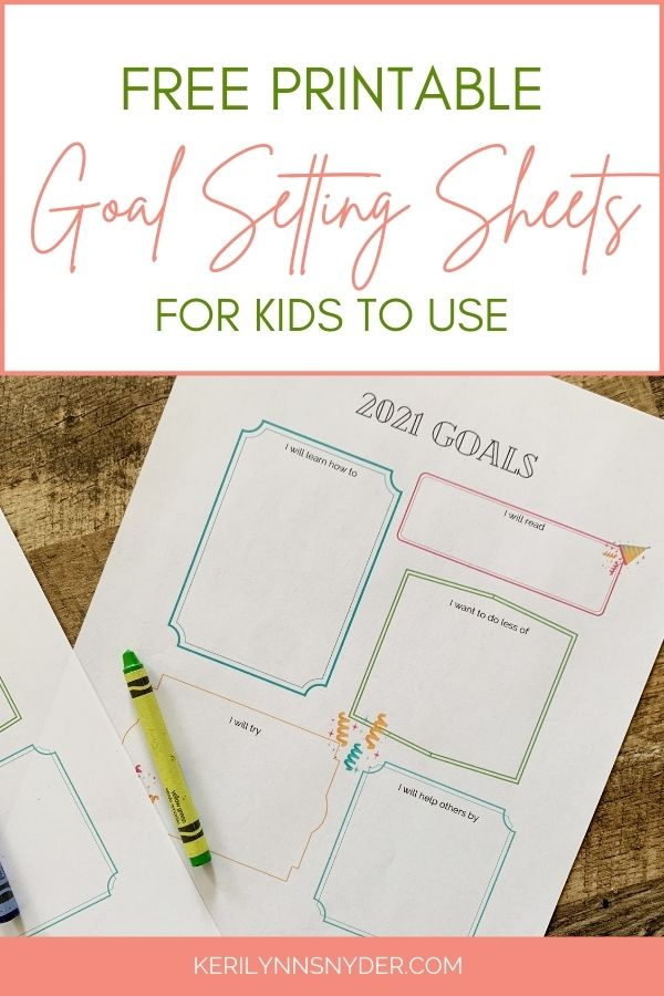 Use these goal setting printables to help kids set goals.