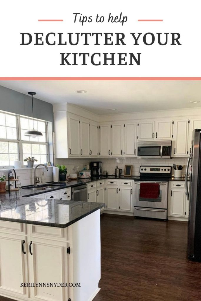 Learn how to declutter your kitchen by breaking it down into zones.