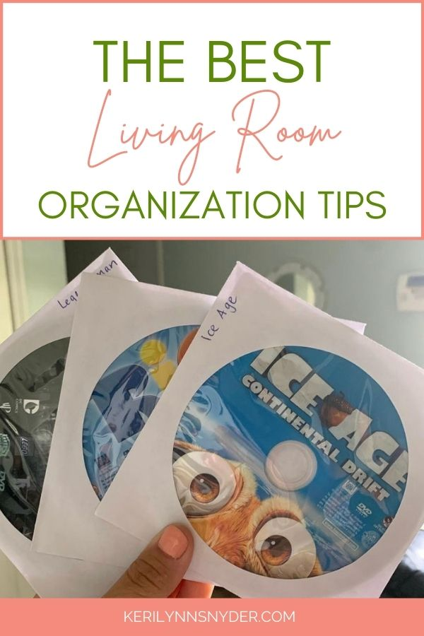 These living room organization tips will help you keep your space clutter free!