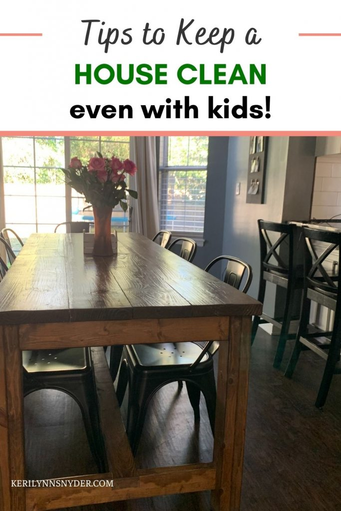 The best tips to keep your house clean, even with kids!