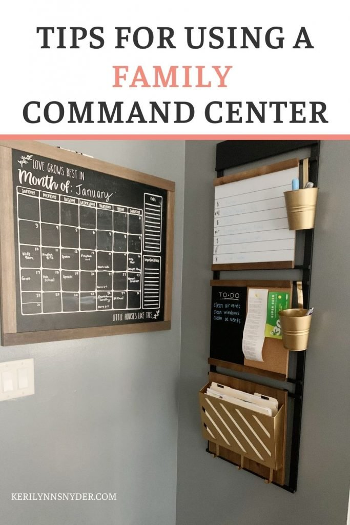 How to use command centers to stay organized.