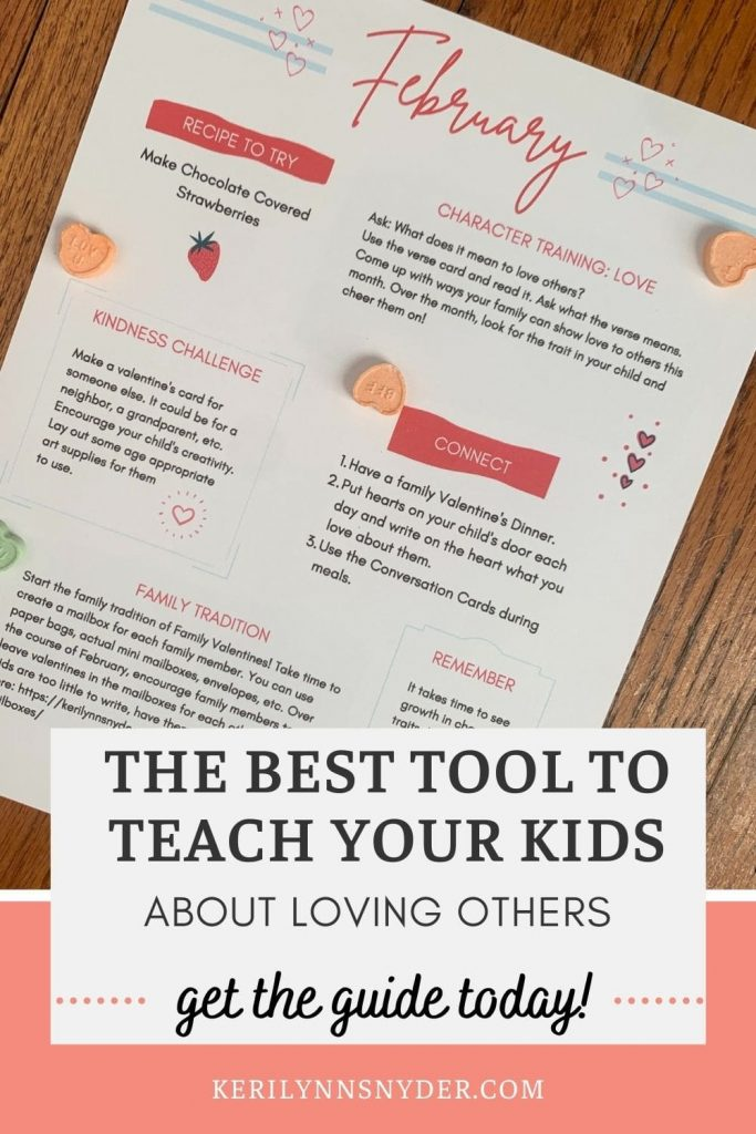 Teach your kids about love by using the family connection guide.
