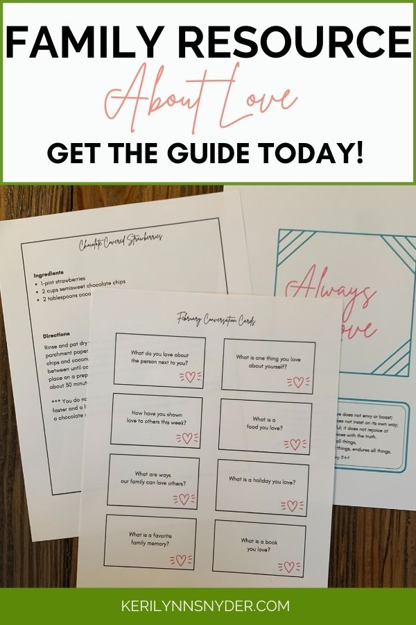 Teach your kids to love others using this family resource. The February Family Connection Guide is the perfect tool for connecting families together.