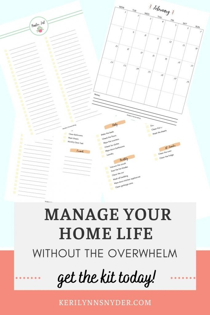 Feeling overwhelmed by your home? Use the Modern Homemaking Kit to help you stay on top of things without the overwhelm!