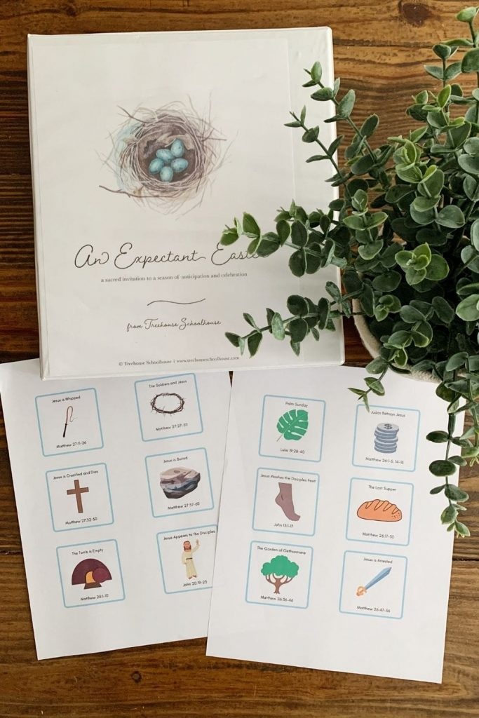 Teach your kids about Easter using printable Easter Story Cards. Get the free printable and learn 5 ways to use them!