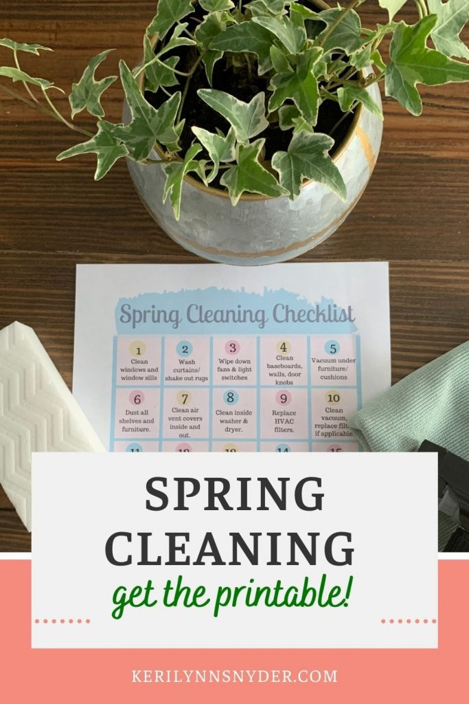 Get the spring cleaning calendar to help you spring clean your home!