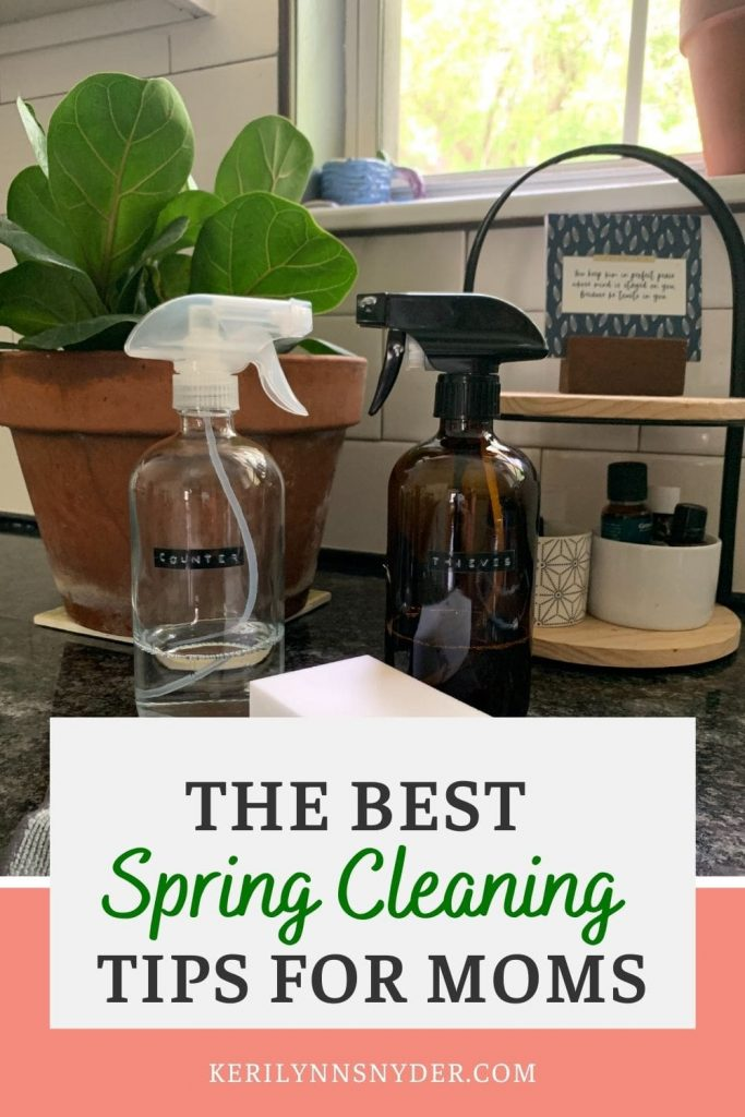 The best spring cleaning tips for moms. Check out the 8 must read tips!