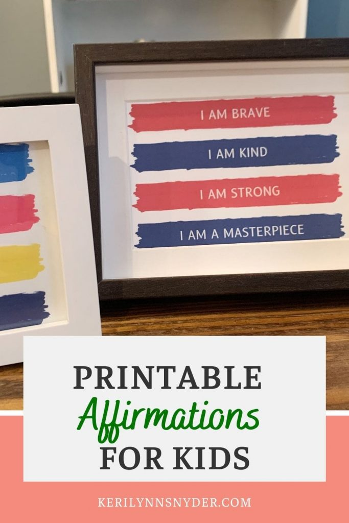 Use printable affirmations to speak truth into your kids! A great parenting resource!