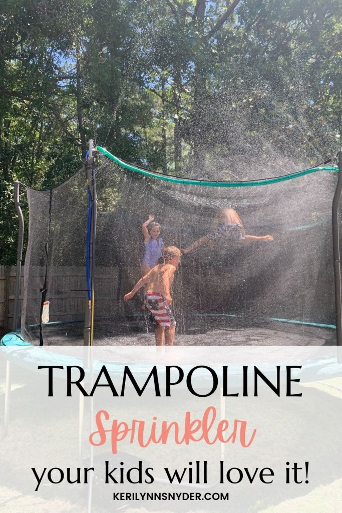 Have fun in your backyard with this ultimate trampoline sprinkler