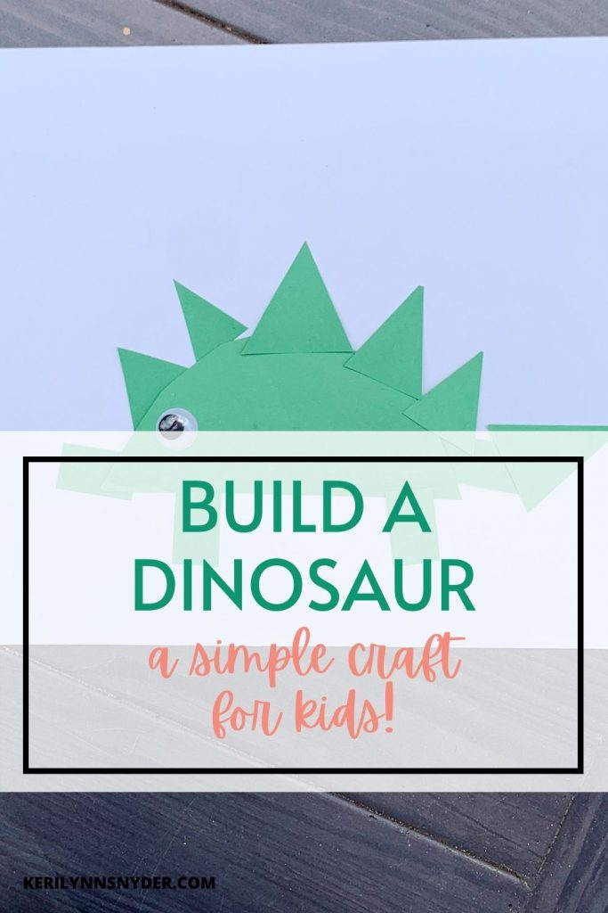 Build a dinosaur with this simple craft idea for kids!