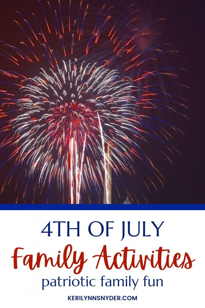 4th of July family activities that your kids will love! Plus a free printable