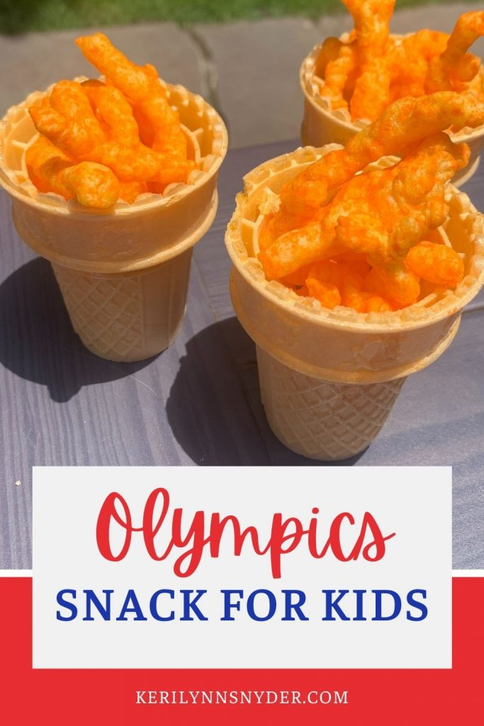 A fun Olympic themed snack for kids to enjoy!