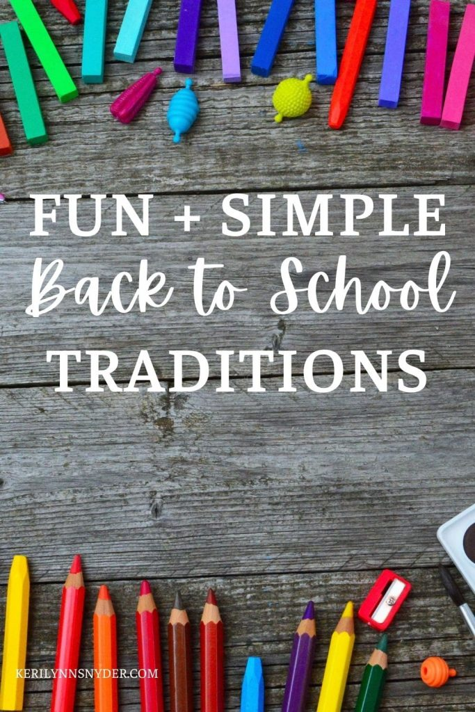 Have fun with these first day of school traditions.