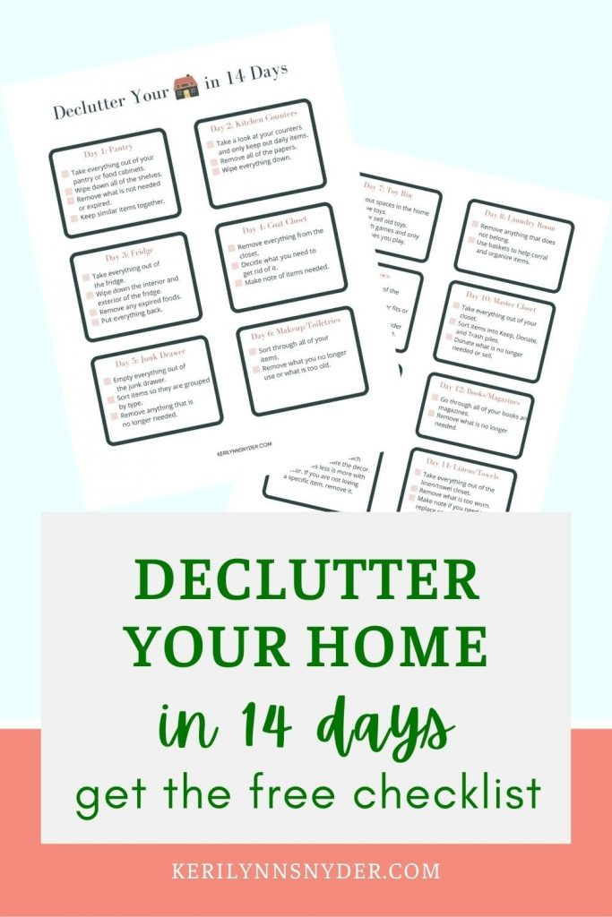 Get your home decluttered in 14 days! Follow this simple checklist