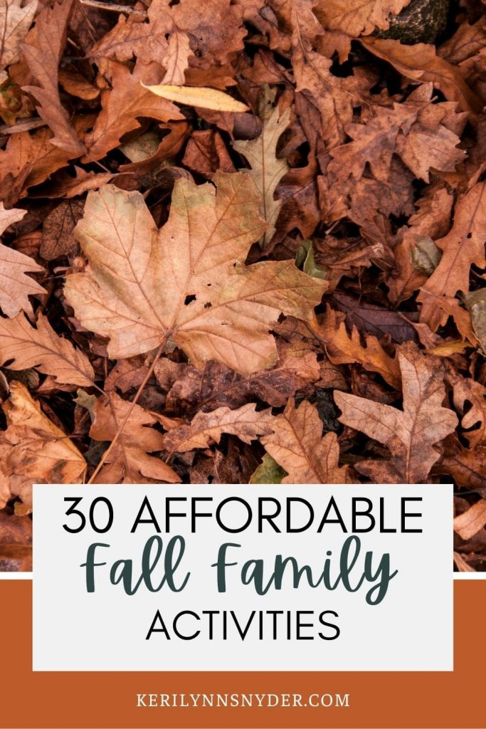 Have fun with these affordable family activities this fall! Includes a printable list of the activities.